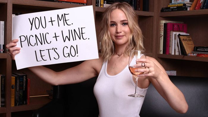 Jennifer Lawrence Invites You to Go Wine Tasting With Her photo
