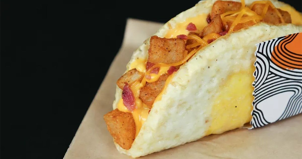Taco Bell Now Sells A Breakfast Taco With A Fried Egg For A Shell photo