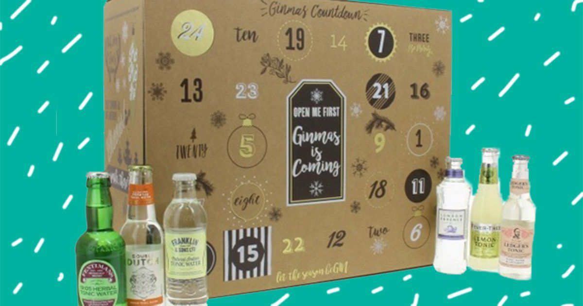 There's A G&t Advent Calendar That Comes With A Full-sized Bottle Of Gin photo