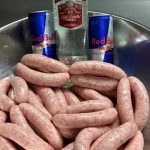 A Creative Butcher is producing Red Bull and Vodka Sausages photo