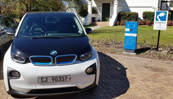 South African Winery installs the first charging station for electric cars in the winelands photo