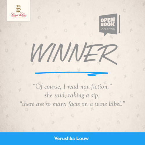Leopard`s Leap and Open Book Announce Winnner of #FLASHFICTION Competition photo