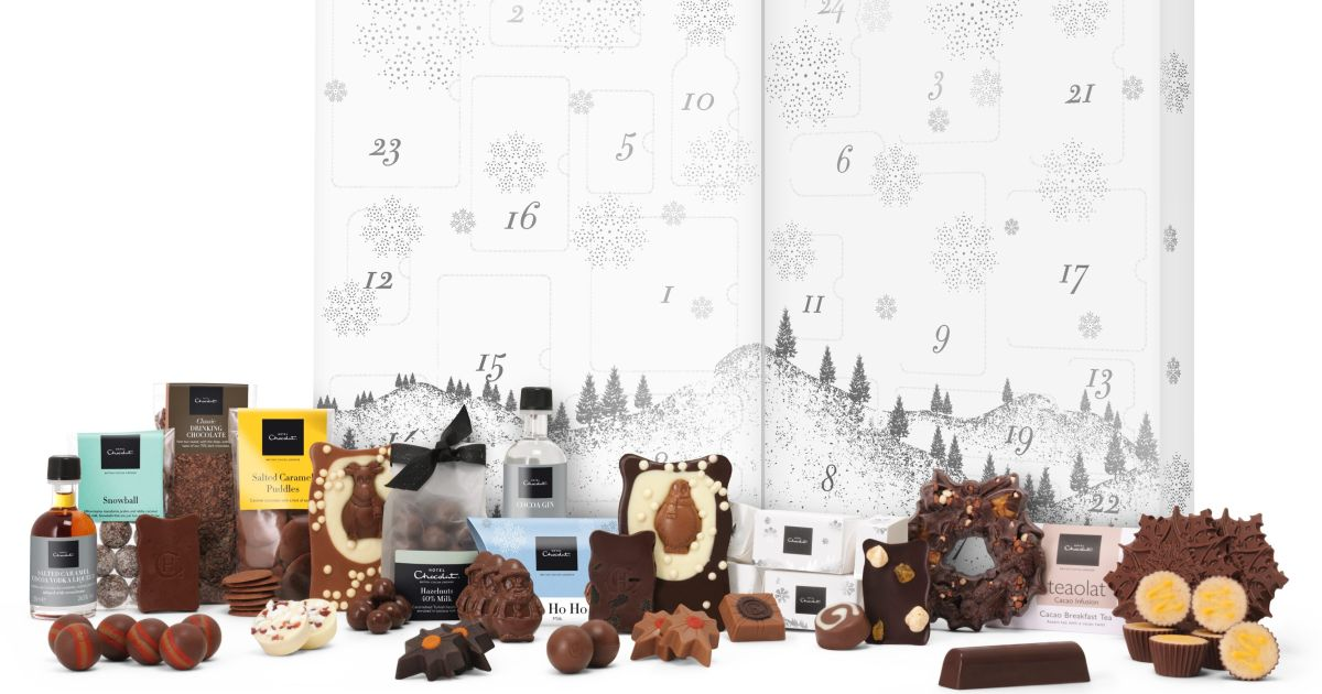 This Giant Hotel Chocolat Advent Calendar Contains Gin And Chocolate photo