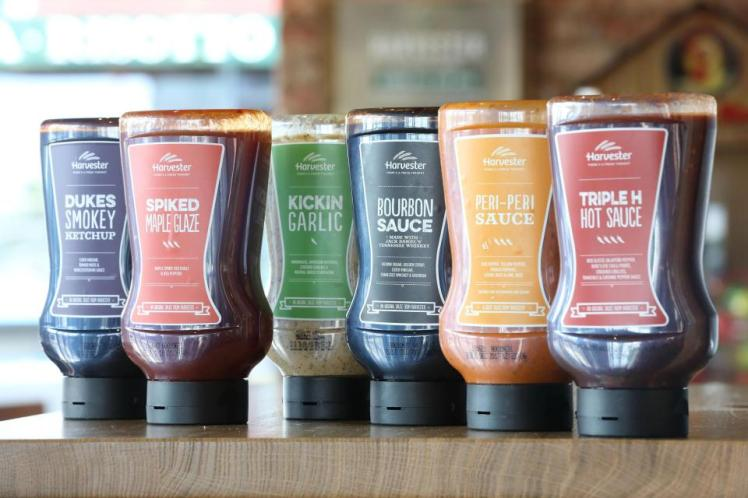 Harvester Is Selling Its Own Sauces So You Don't Have To Share With Other Guests photo