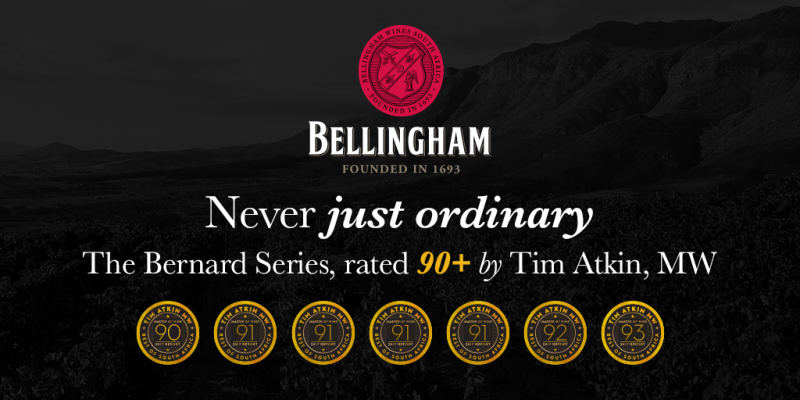 Bellingham The Bernard Series awarded  Medals of Excellence by Tim Atkin, MW photo