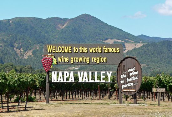 Napa Valley welcome sign e1506417543550 Score a full house of trump cards with the winning Poker themed wines of JAQK Cellars