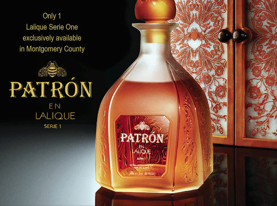 This bottle of Patron Tequila costs $6,800 and comes in a Lalique crystal decanter photo
