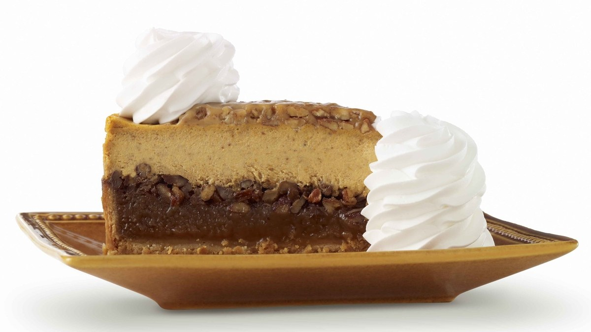 The Cheesecake Factory Combines A Pumpkin And Pecan Pie In One Glorious Cheesecake photo