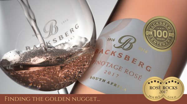 Backsberg`s First Pinotage Rosé Finds Golden Nugget at Rosé Rocks photo