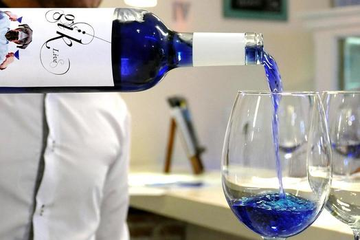 Blue Wine Is A Thing Now. photo