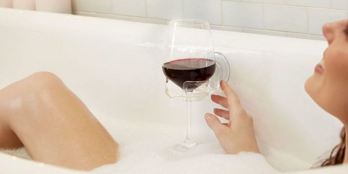 SipCaddy Lets You Drink Wine In The Shower photo