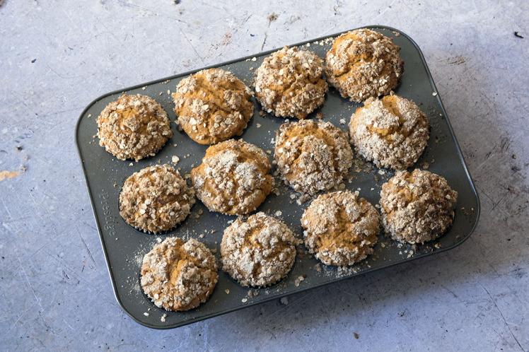 Vegan Recipe: Pumpkin Streusel Muffins photo