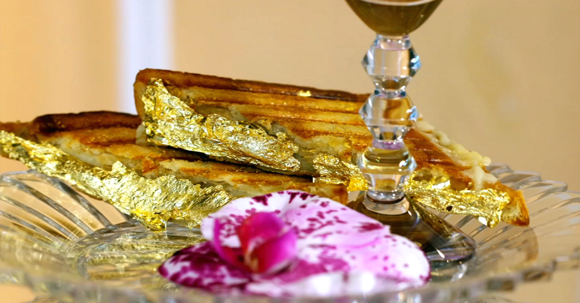 The Most Expensive Grilled Cheese In The World Costs $214 And Is Gilded With Real Gold photo