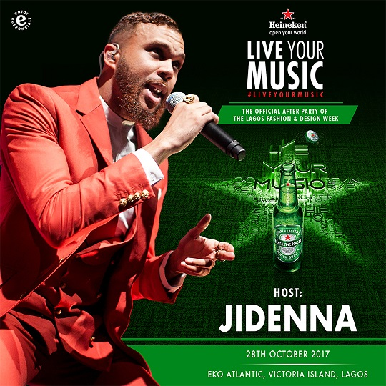 Music Takeover! Heineken Unveils Jidenna as Host Of Heineken's Live Your Music Parties In Abuja & Lagos photo