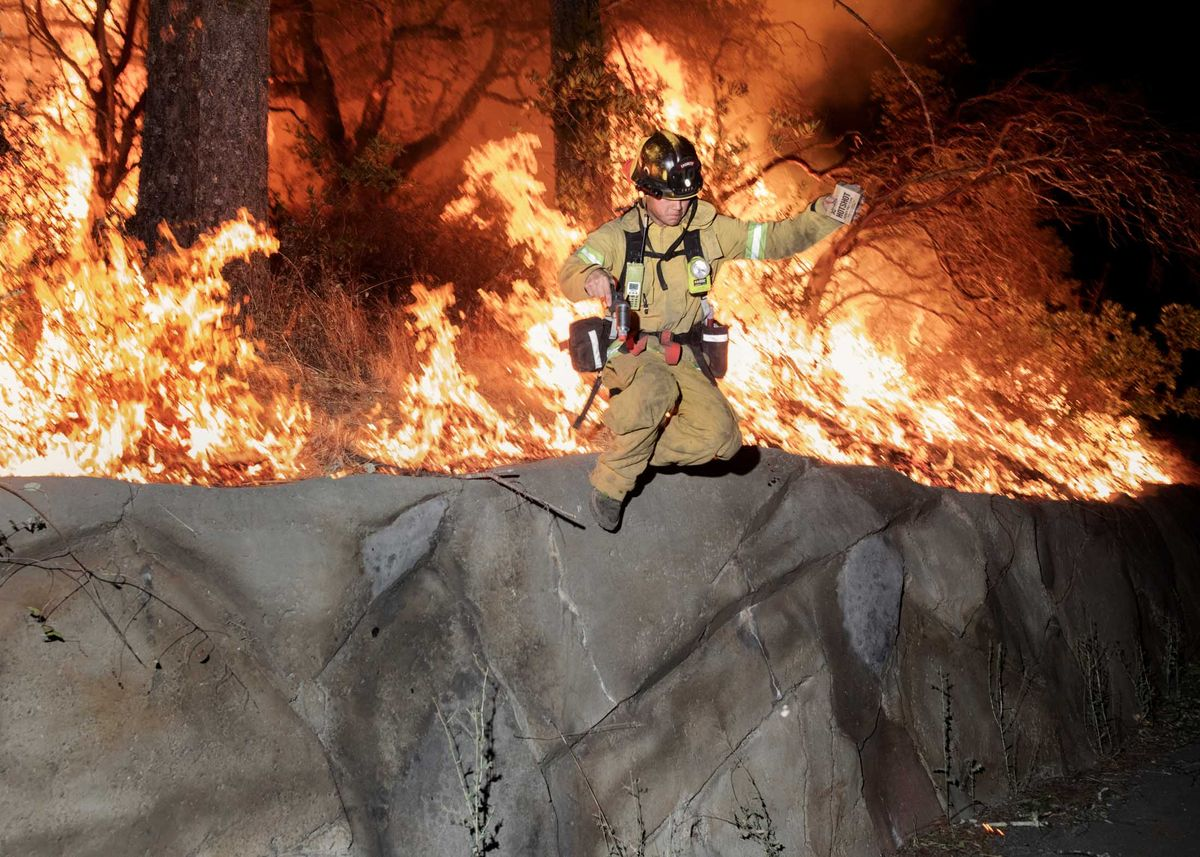 Firefighters Battle The Wine Country Wildfires photo
