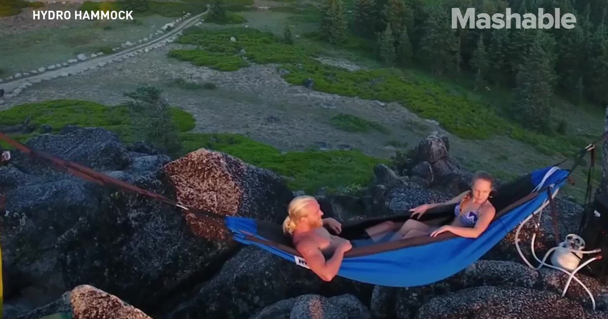 This Waterproof Hammock Transforms Into A Portable Hot Tub photo