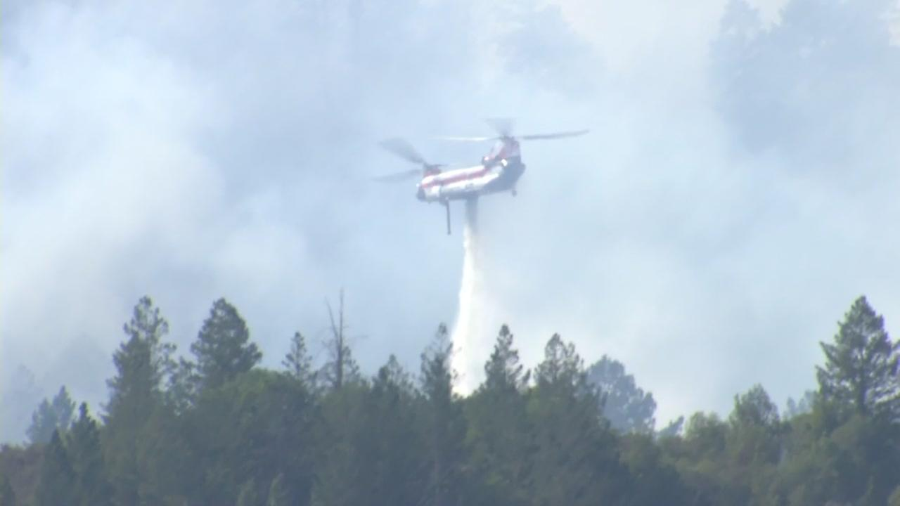 Spectacular And Harrowing Air Assault On Fire Visible From Hwy 29 photo