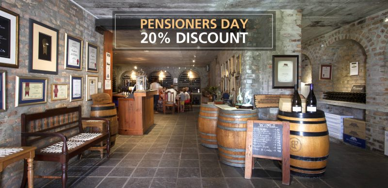 Bouchard Finlayson Introduces First Fridays' Pensioners Discount photo