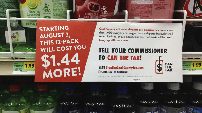 Chicago-area Penny-per-ounce Soda Tax Repealed photo