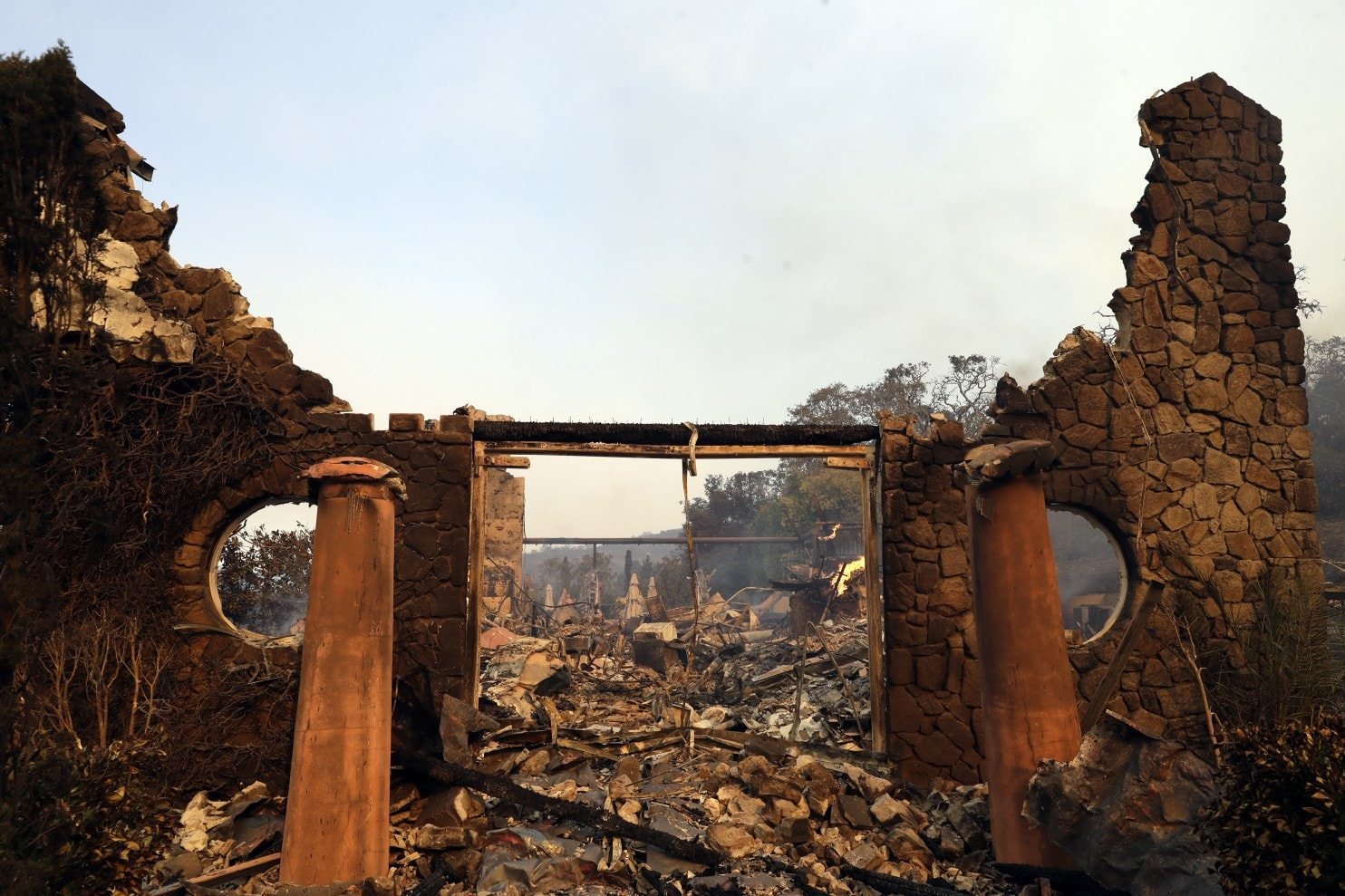 Smoke, Wildfires Damage California's Famed Wine Country photo