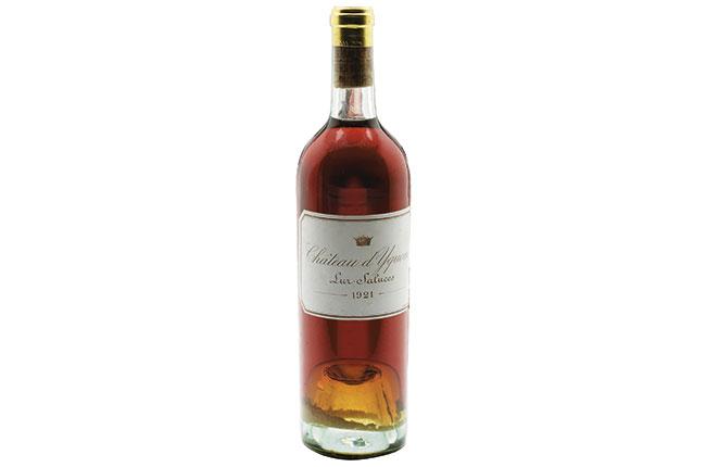 Wine Legend: Château D'yquem 1921 photo