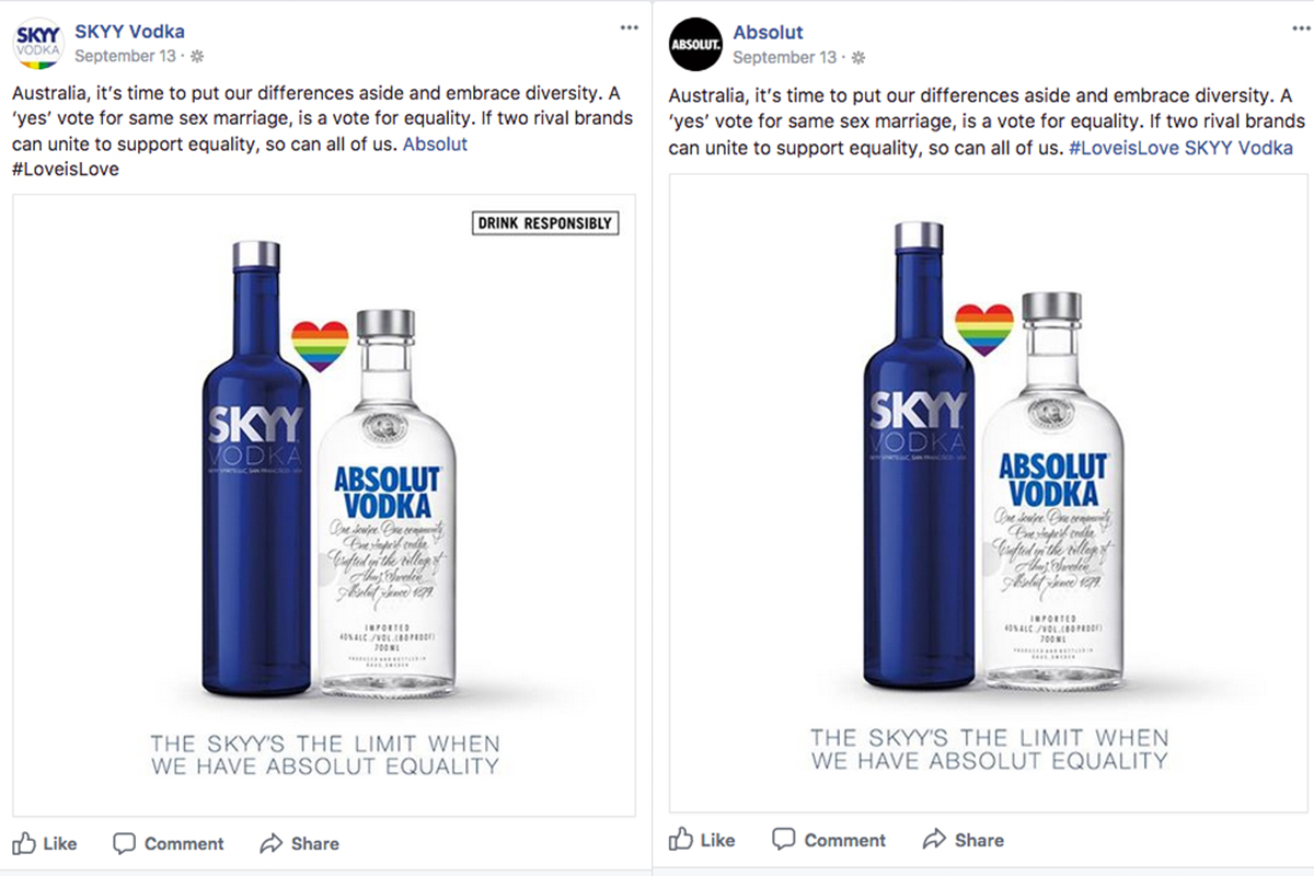 Skyy Vodka/absolut: Australia Marriage Equality photo