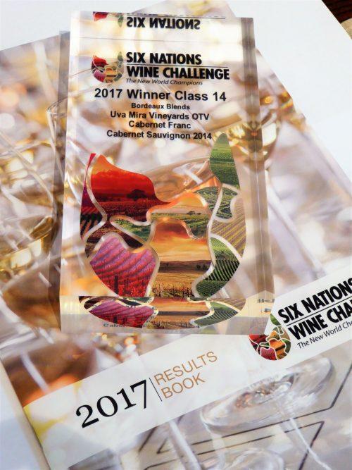 Uva Mira 5 6 Nations Trophy e1507796287105 Uva Mira Mountain Vineyards shines at Six Nations Wine Challenge