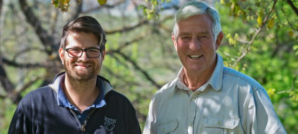 Winemaker Nicky Claasens left and Jan Boland Coetzee e1508753784510 Vriesenhof unveils a refreshed look for their range of wines