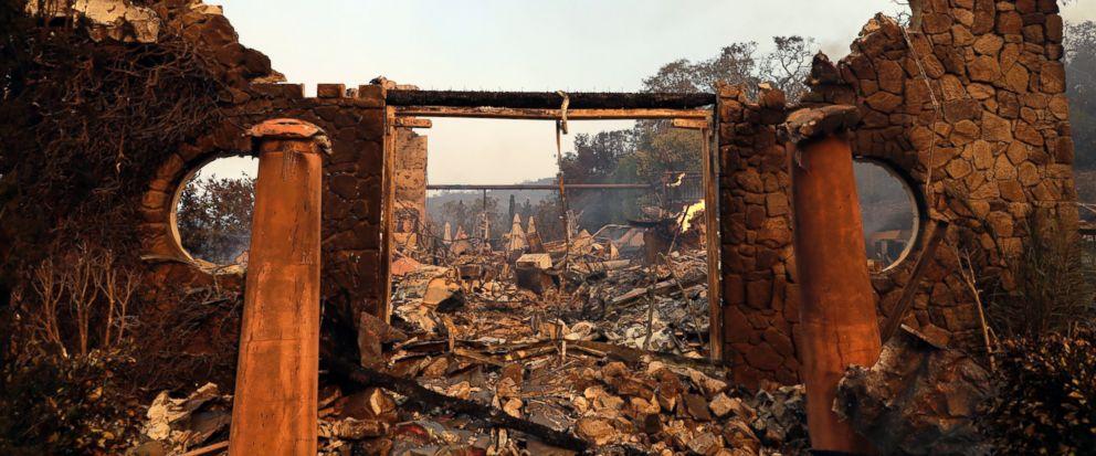 Raging Wildfires Ravish California Wine Country photo