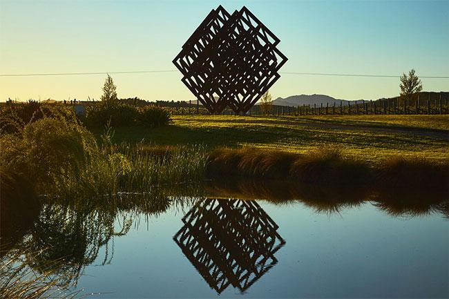 Brancott Estate And Dror Unveil 'matrix' Sculpture In Vineyard photo