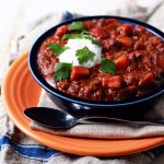 Slow Cooker Quinoa, Sweet Potato and Black Bean Vegetarian Chili photo