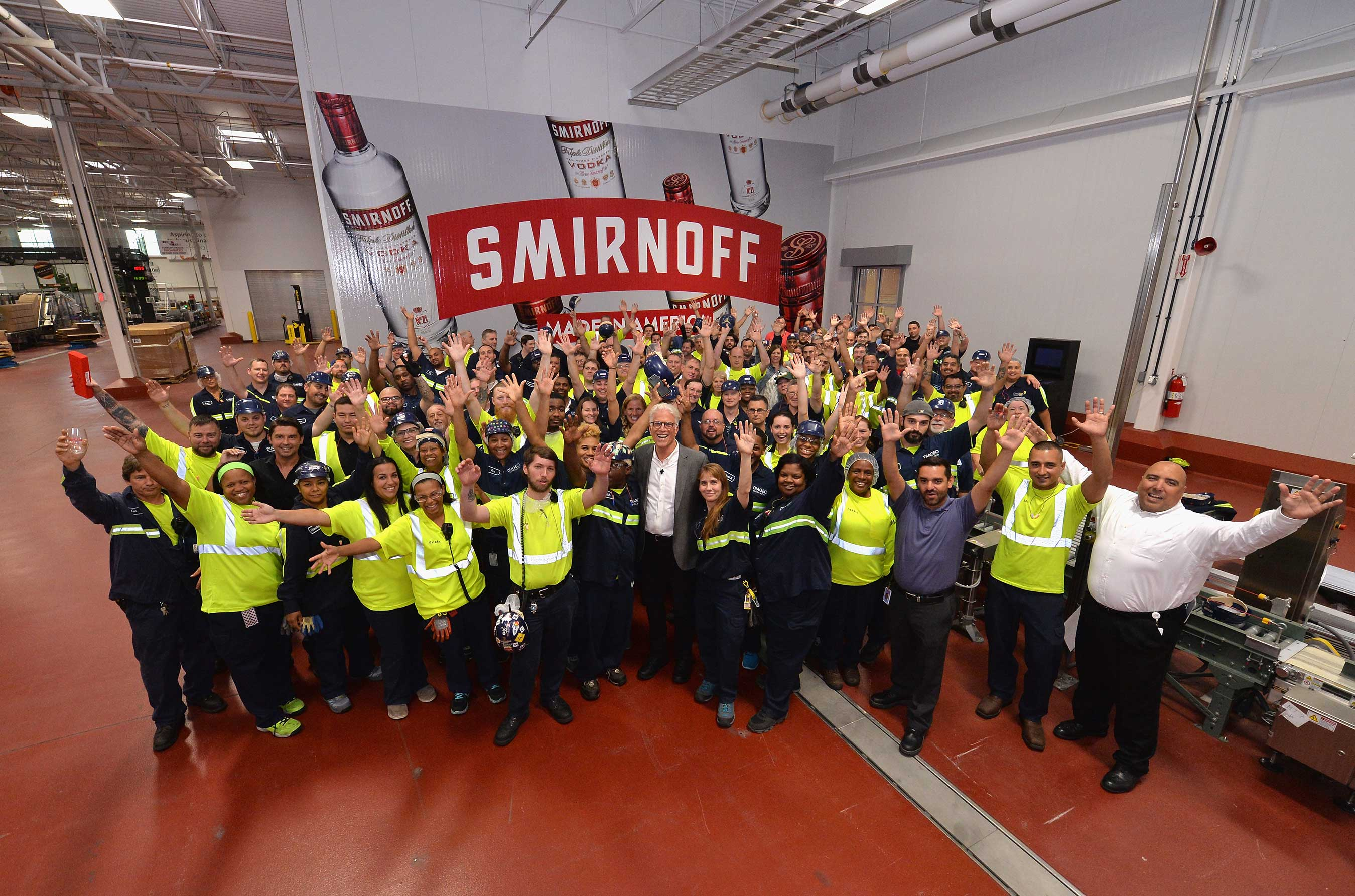 Ted Danson Visits Smirnoff(tm) Vodka Facility In Plainfield, Ill. To Experience How The Brand Is Made In America photo