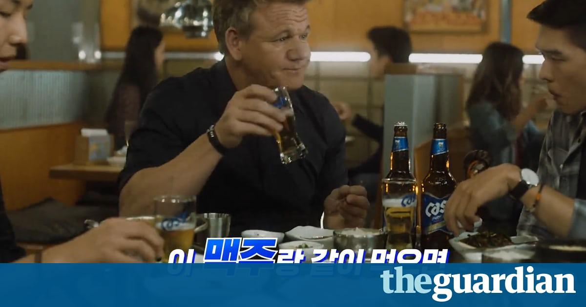 Beer Goggles? Gordon Ramsay Under Fire Over Korean Tv Advert photo