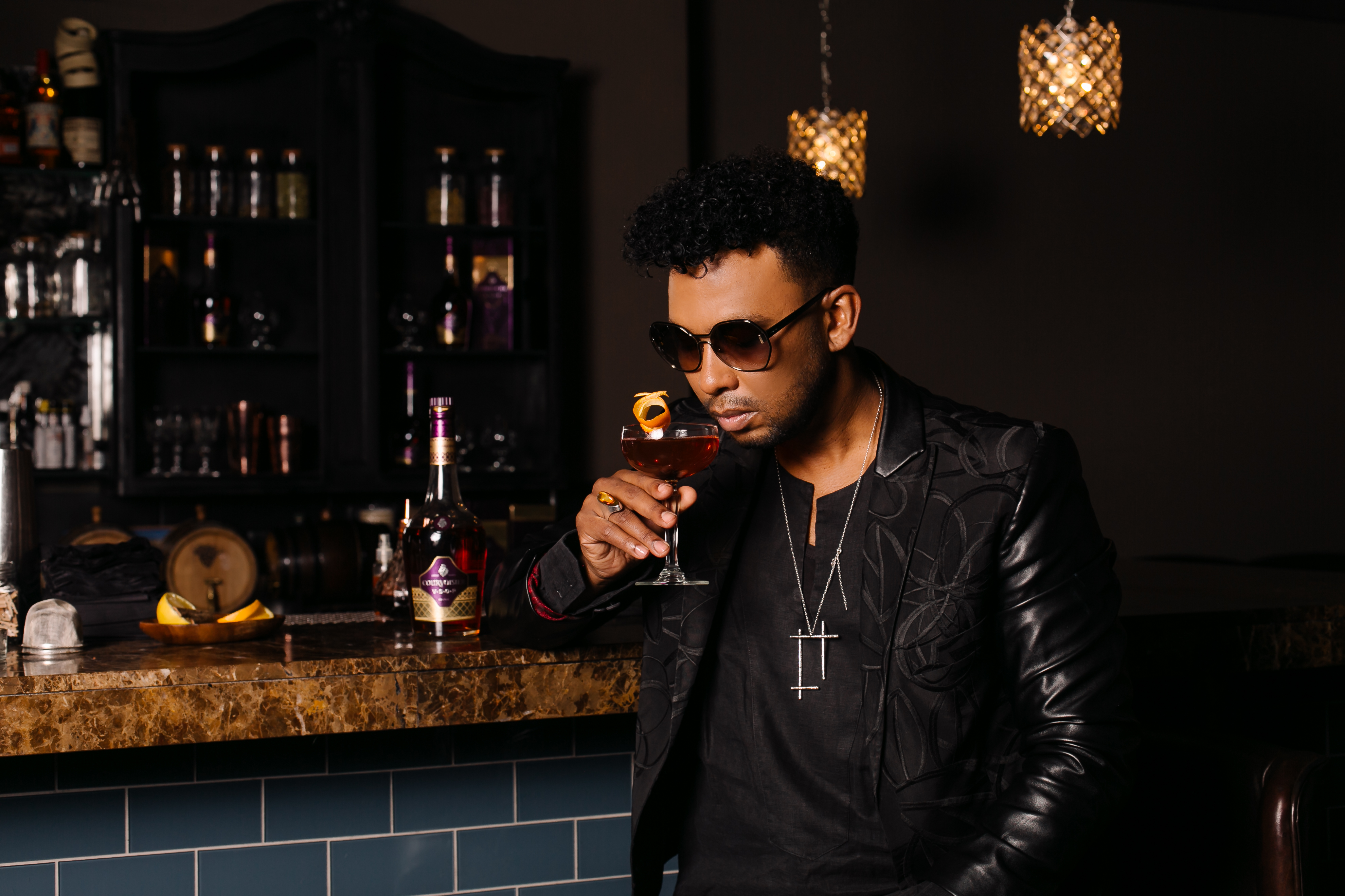 How To Make David Tlale's Courvoisier Noir Cocktail photo