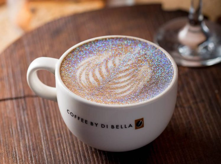 Glitter Cappuccinos Are Here In Case Your Coffee Needed Some More Sparkle photo