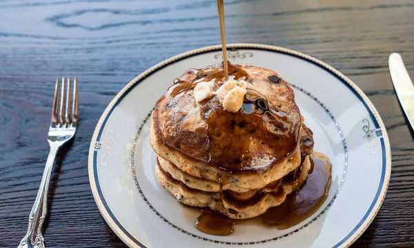 Bourbon and Bacon Chocolate Pancakes photo