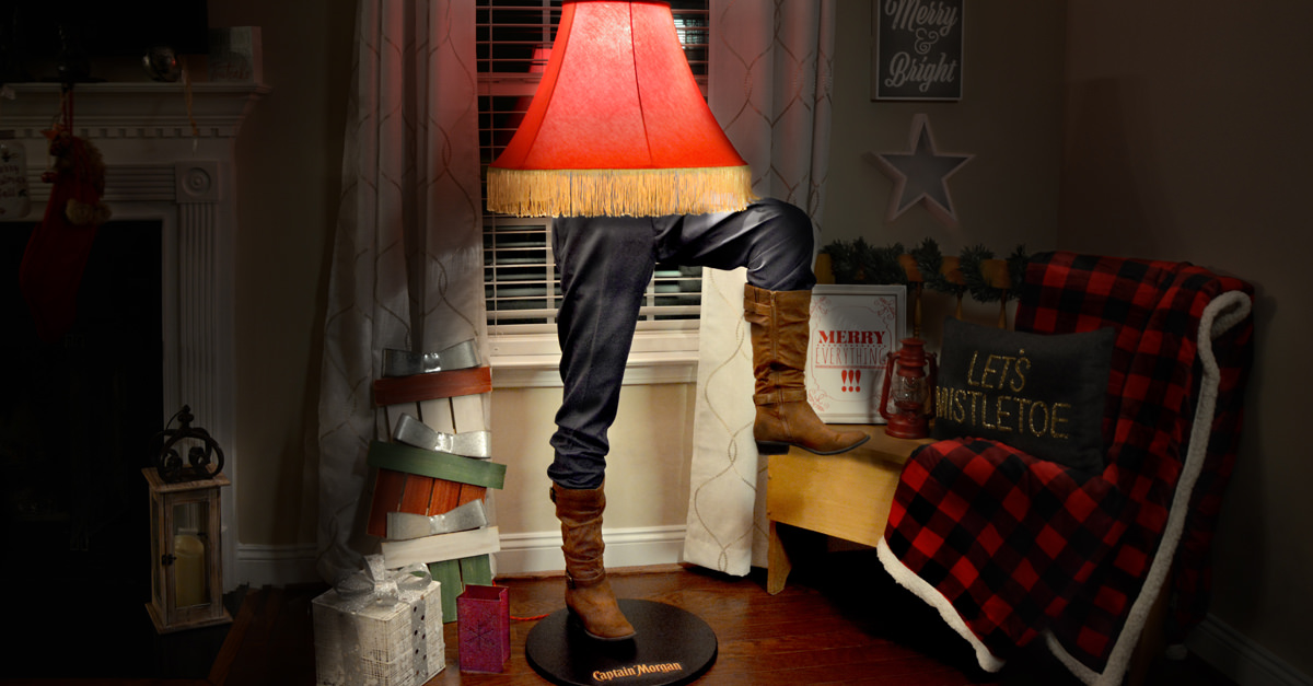 """Captain Morgan Is Selling A """"christmas Story"""" Inspired Leg Lamp photo"""