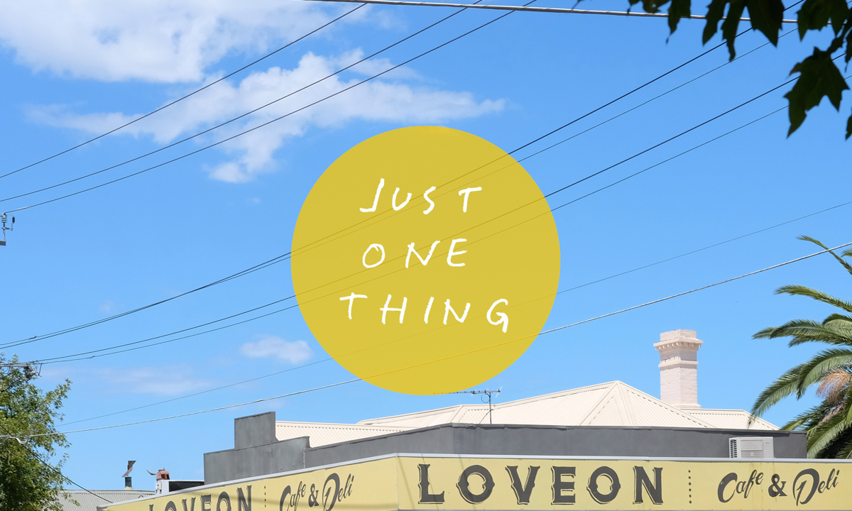 Just One Thing… At Loveon Café photo