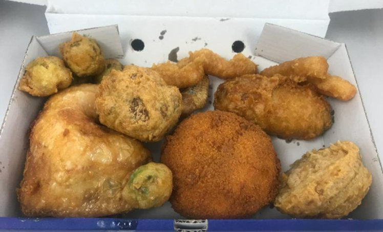 Chip Shop Owner Creates A Battered Christmas Dinner photo