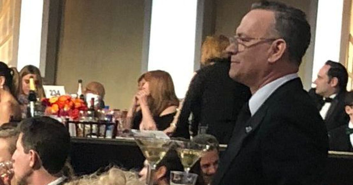Tom Hanks Spent His Golden Globes Delivering Martinis, Deserves An Award photo