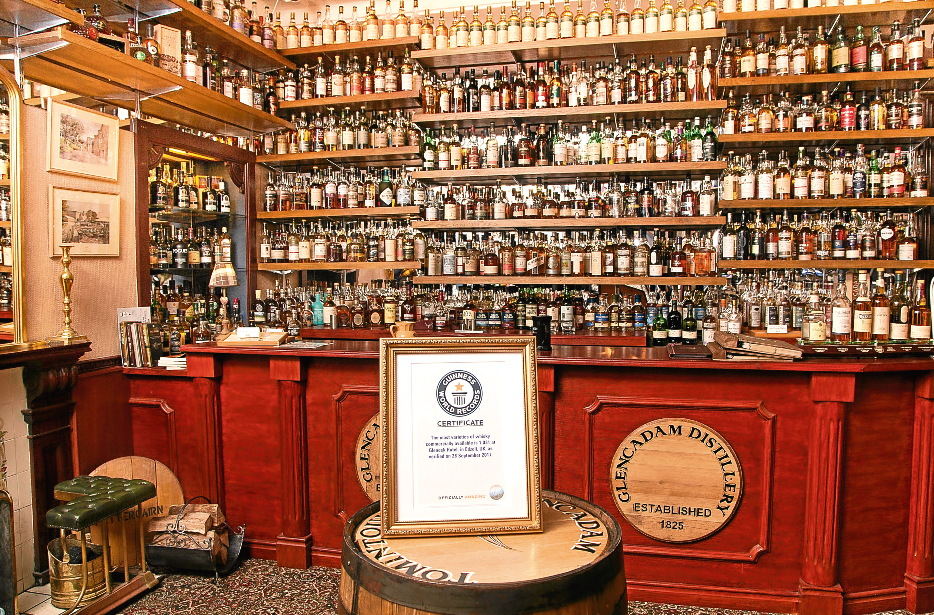 North-east Hotel Toasts Guinness World Record For Whisky Collection photo