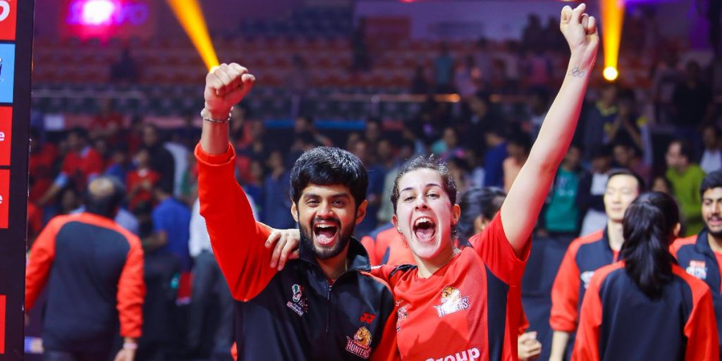 Pbl 2018: Carolina Marin-led Hyderabad Hunters Edge Past Bengaluru Blasters To Win Maiden Title photo