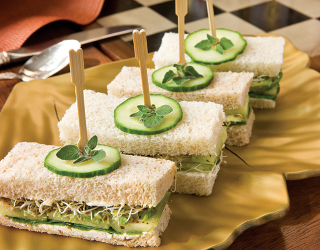 Cucumber Tea Sandwiches with Avocado photo