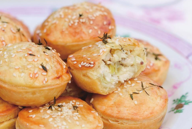 Pocket-friendly Chicken, Celery and Thyme Pies photo