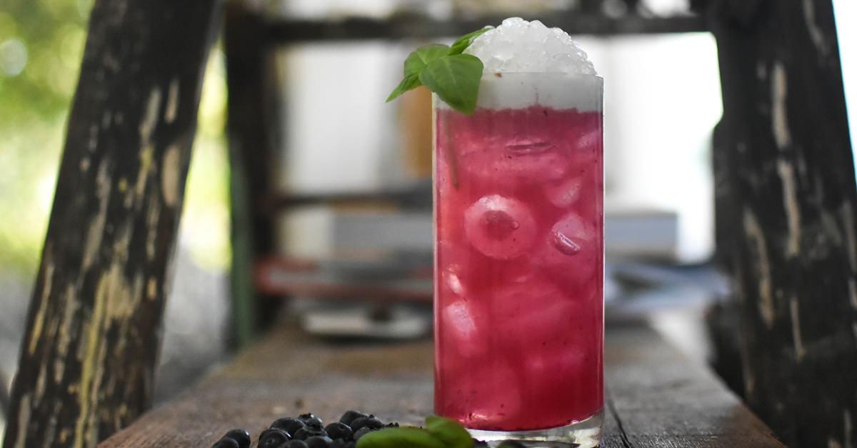 The Berry-mezcal Colada Recipe photo