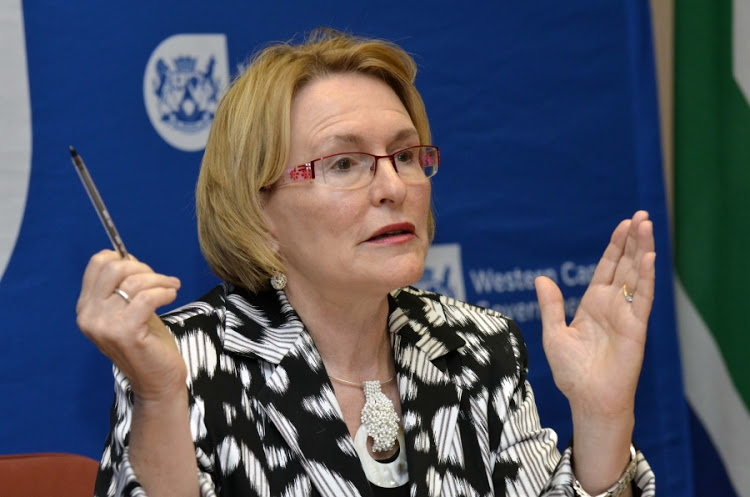 Helen Zille threatens Capetonians who add water to their whiskey and have too much sex with jail time photo