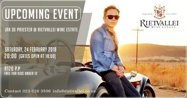 Jak de Priester Live at Rietvallei Wine Estate photo