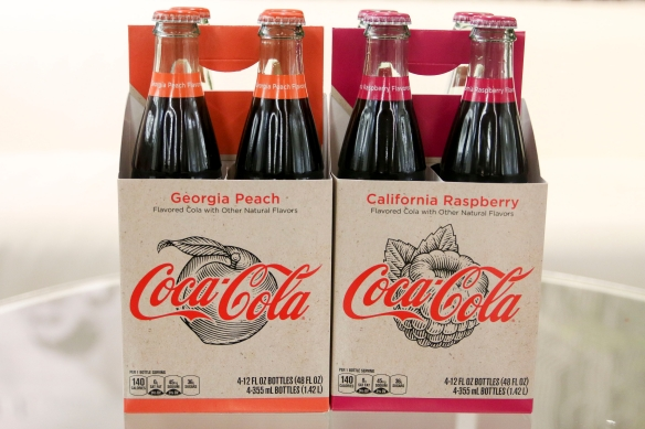 Coca-cola Now Comes In Georgia Peach And California Raspberry Flavors photo