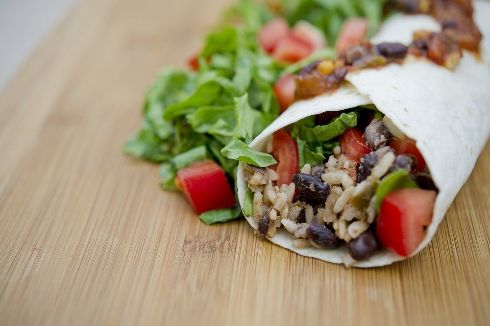 #greenmondaysa: Black Bean Burritos photo