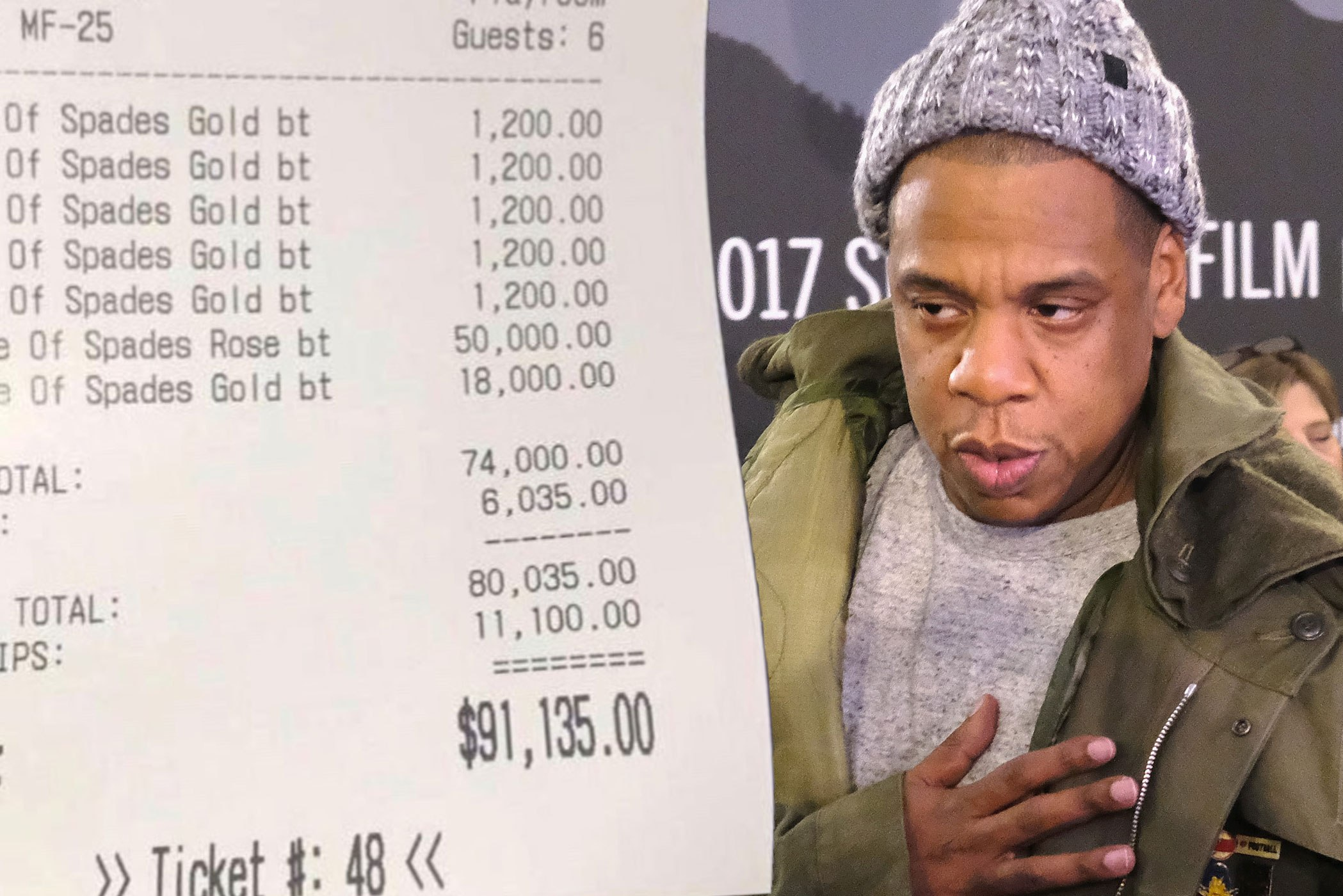 Jay-z Spends N32m On Drinks, Tips Waitress N3.9m photo